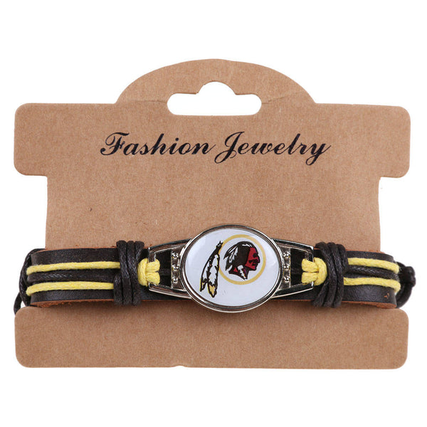 Eagle Steelers Football Team Leather Bracelet Wristband Team Gift Adjustable