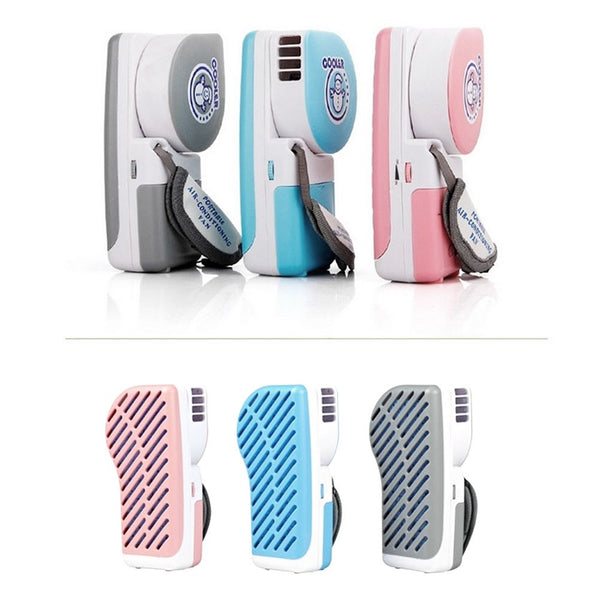 Mini USB Portable Rechargeable Hand Held Air Conditioner Summer Cooler Fan