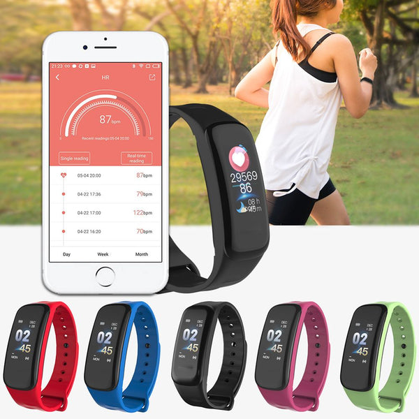 Sports Blood Pressure/Oxygen Heart Rate Fitness Smart Watch Wrist Band Bracelet
