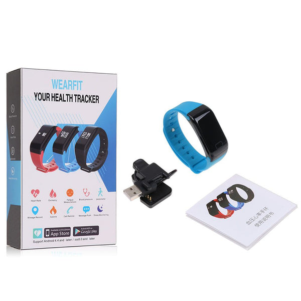 Fitness Tracker Smart Bracelet Heart Rate Pedometer Sleep Monitor fr IOS Android