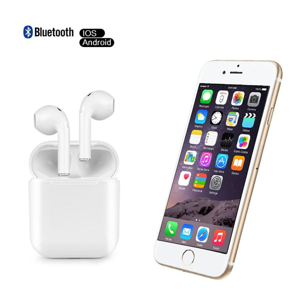 For iPhone Samsung Wireless Bluetooth Earphone in Ear Stereo Earbud Headset