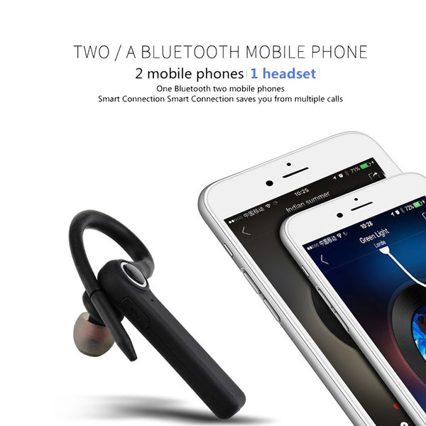 Bluetooth Headset Wireless Earbud Car Earpiece Business Earphone Sweatproof