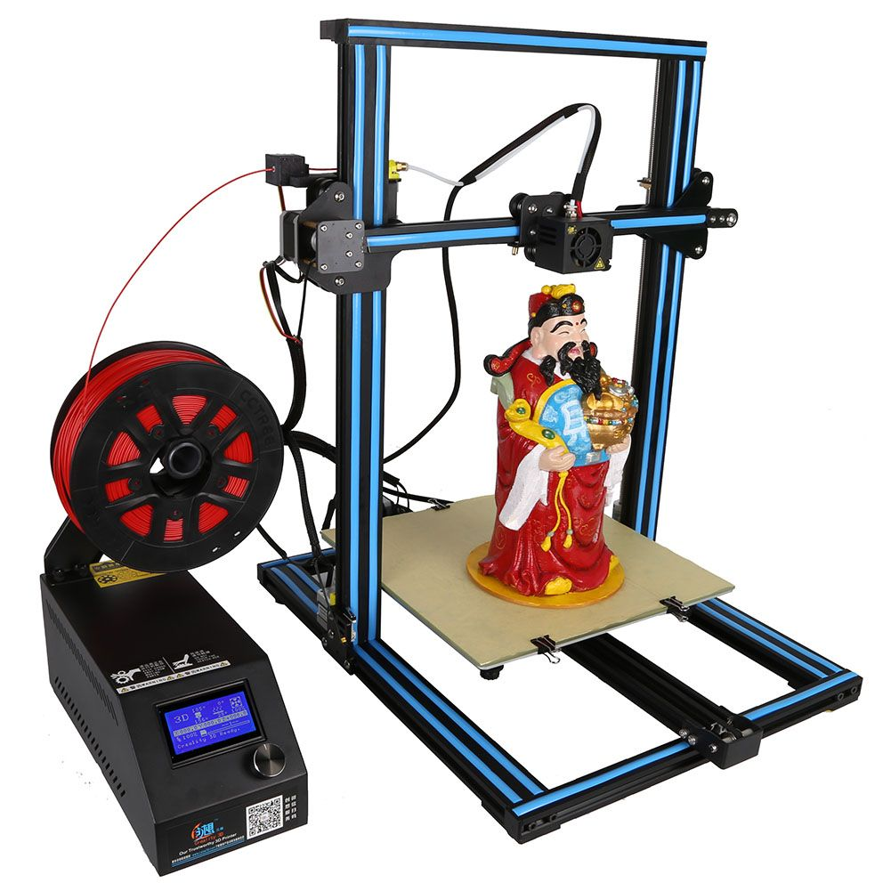 Anet E10 3D Printer Alloy Frame LCD Screen Printer DIY Kit Support TF Card