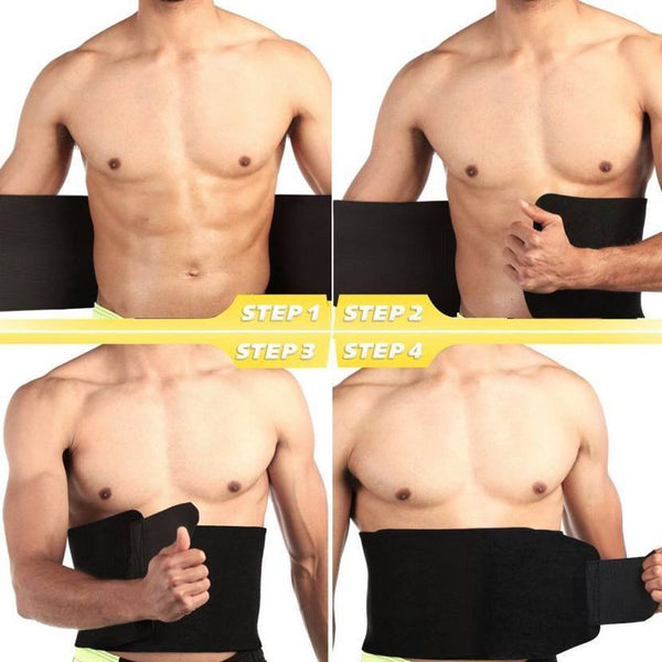 Men Women tummy Waist Cincher Sweat Belt Trainer Hot Body Shaper Slim