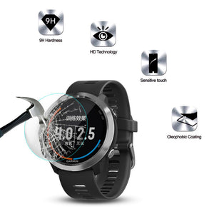 Screen Protector Tempered Glass for Garmin Forerunner 645 GPS Multi Sport Watch