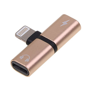 2 in 1 Dual Audio Headphone Charger Adapter Support iOS 11