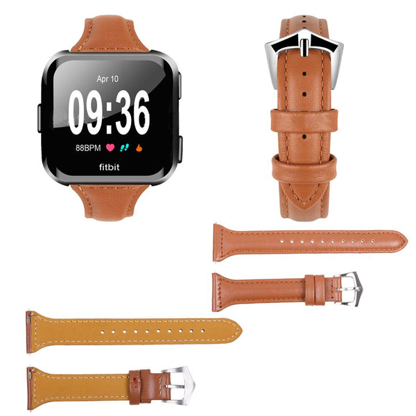 Quick-release Leather Replacement Watchband Strap Wrist Band For Fitbit Versa