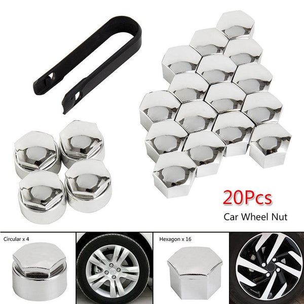 Universal 20Pcs Wheel Nut Caps Bolt Covers FOR Audi VW Vauxhall BMW 17mm