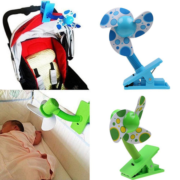 Mini Portable USB Safety Clip-on Fans For Buggy Baby Pram Stroller Cots Summer