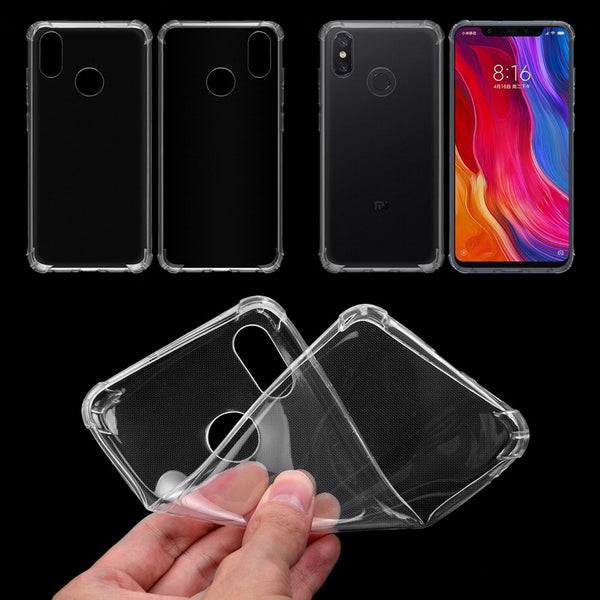 For Xiaomi 8 Silicone Transparent Shockproof  TPU Cover Protective Case Skin