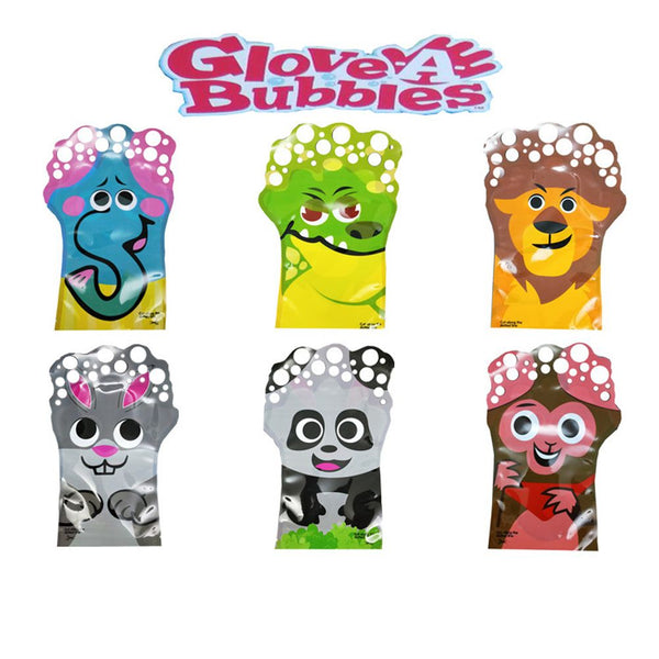 GLOVE A BUBBLES Animals Bubble Making Glove Summer Toy Garden Party Super Fun