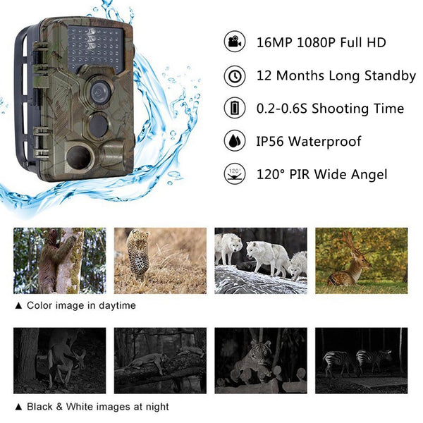 16MP 1080P HD Hunting Scouting Trail Camera Game Infrared Detection Farm Hunt