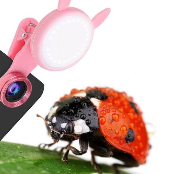 LED Selfie Light Fill-in light Macro Lens Kit For Smart Phones