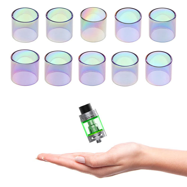 3 x Replacement Rainbow Glass Tube For TFV8 BABY BEAST/TFV8 X-Baby/TFV12