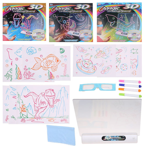 3D Magic Flash Drawing Board Multi-function Three-dimensional Kid Toy DIY Gift