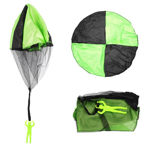 Children 45cm Hand Throw Mini Cloth Parachute Classic Fun Toy