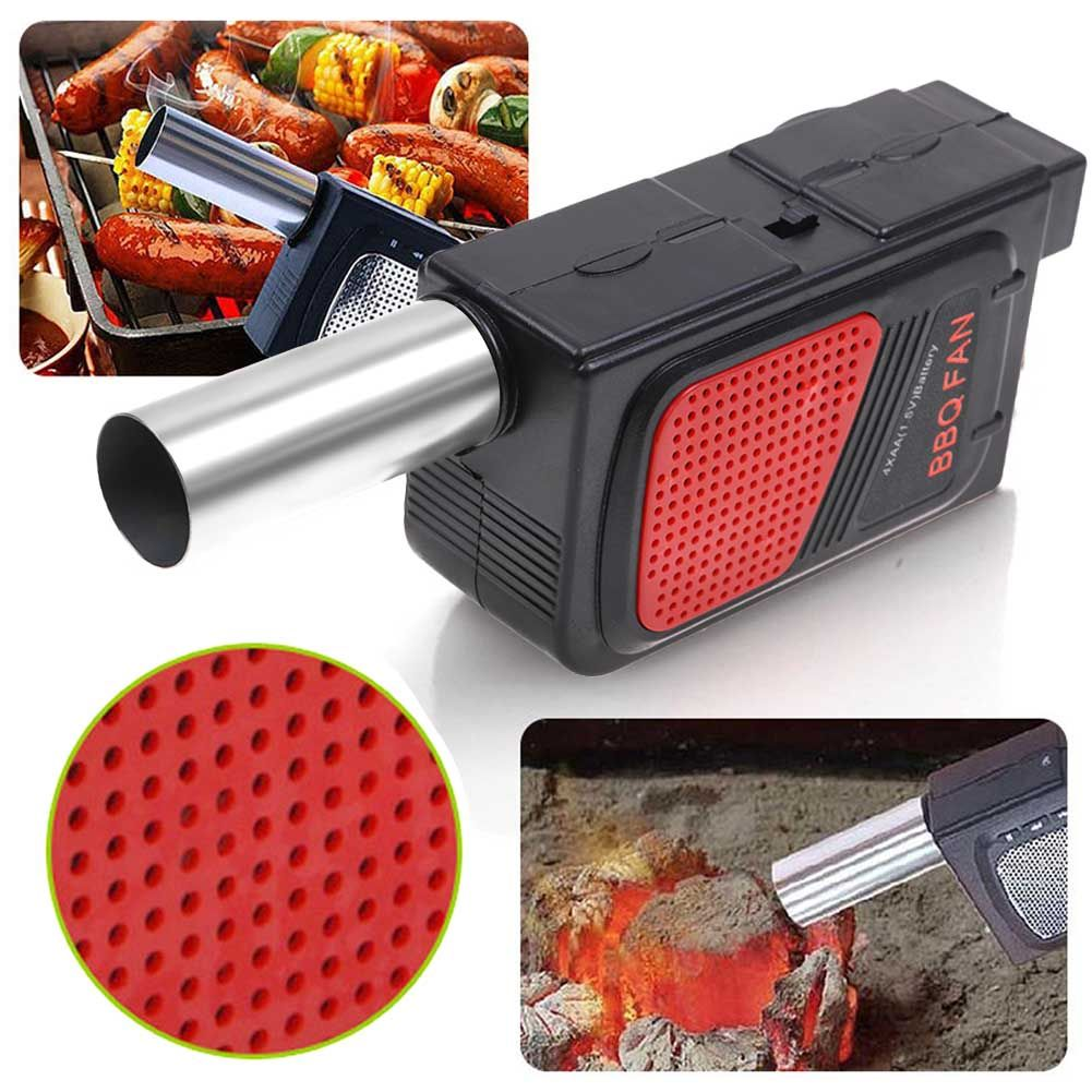 Electricity BBQ Fan Air Blower Ventilator For Barbecue Fire Bellows Blast Blower