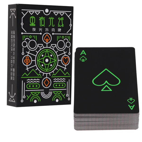 Glow In The Dark Novelty Fluorescent Luminous Poker Playing Cards Fun Toys