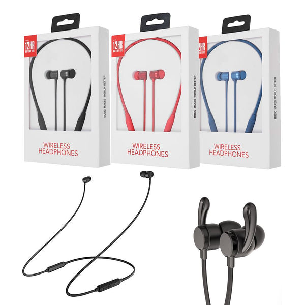 Magnetic Wireless Bluetooth 4.2 Headset In-Ear Stereo Headphones Sports Earphone