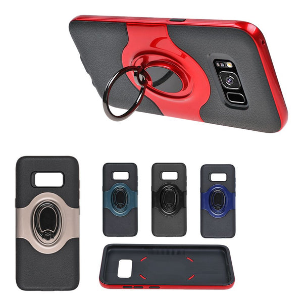 Ring Holder Shockproof Armor TPU Case Cover For Samsung Galaxy S8