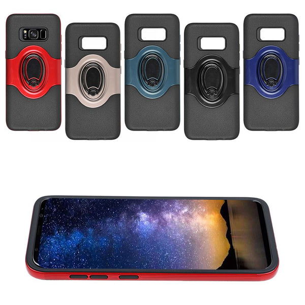 Ring Holder Shockproof Armor TPU Case Cover For Samsung Galaxy S8 Plus