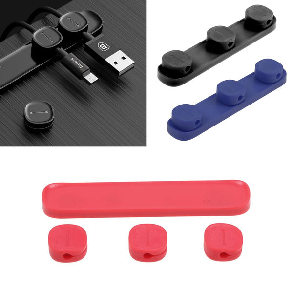 Durable Magnetic Cable Clips with Sticky Base | For Cable Management