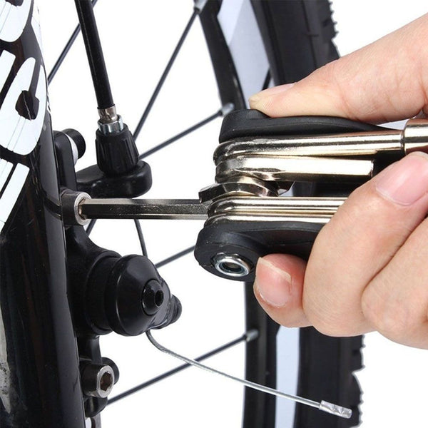 Folding Multi Tools Bicycle Road City Mountain Bike Repair Kit Mechanic 16 In 1