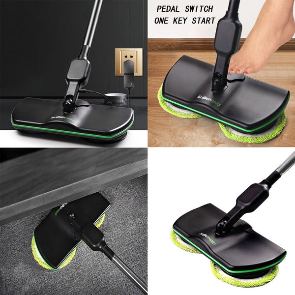 Rechargeable Cordless Powered Floor Cleaner Scrubber Polisher Mop