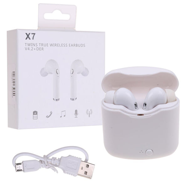 Wireless Earbud Headset Bluetooth Earphone x7 tws Headphone for iPhone