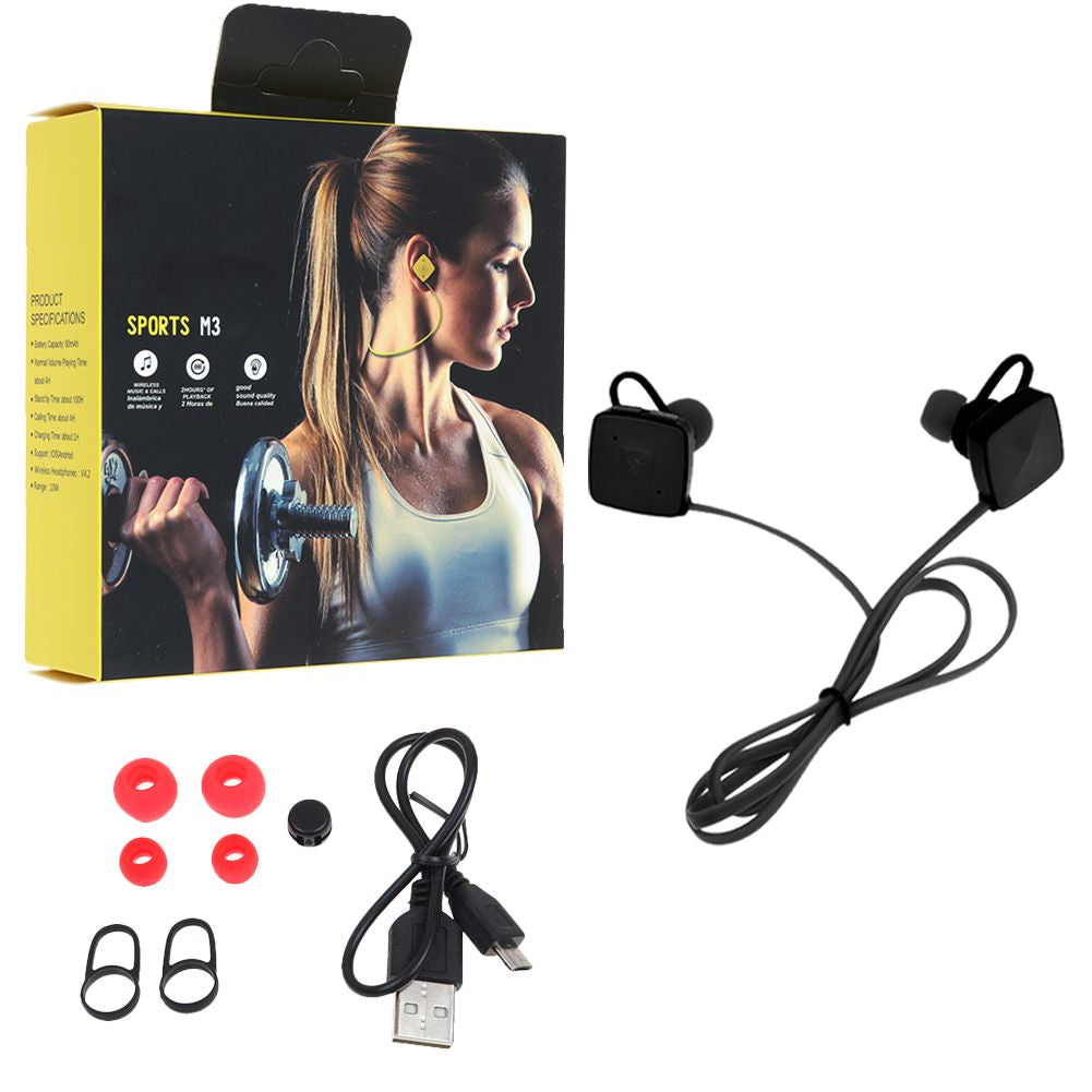 M3 Sports Wireless Bluetooth V4.2 Earphone Earbuds Stereo Headset Bass w/ Mic