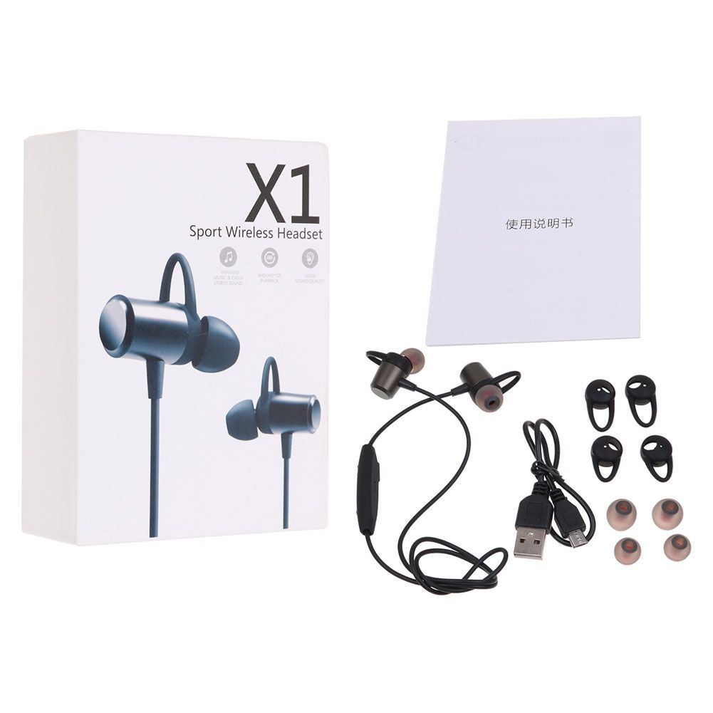 X1 Hanging Ear Sports Sweat-proof Stereo Wireless Bluetooth Headphone