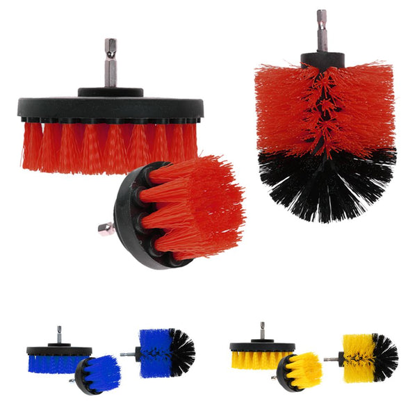 3Pcs/Set Tile Grout Power Scrubber Cleaning Drill Brush Tub Cleaner Combo Scrub