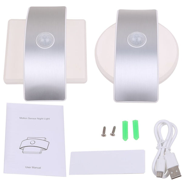 Wall Light Rechargeable Lamp Up & Down 14 LED Motion Sensor Night Indoor Security