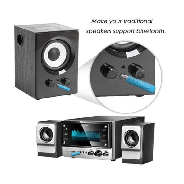 Wireless Bluetooth 4.1 Car Kit Hands free 3.5mm Jack AUX Audio Receiver Adapter