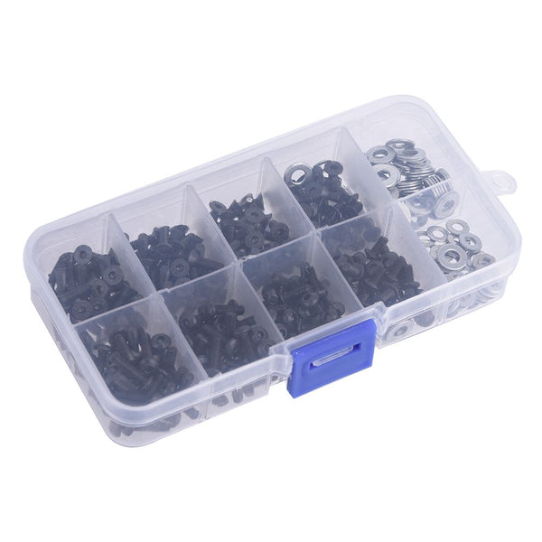 340Pcs/set Screws Box Stainless Steel Assorted Repair Tool For HSP RC Car