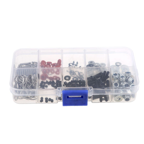 180Pcs Stainless Steel Assorted Screws Box Repair Tool Set For 1/10 HSP RC Car