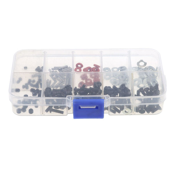 Set/200pcs Assorted RC Screws Tool Kit for 1/10 RC Car HSP Axial Replacement