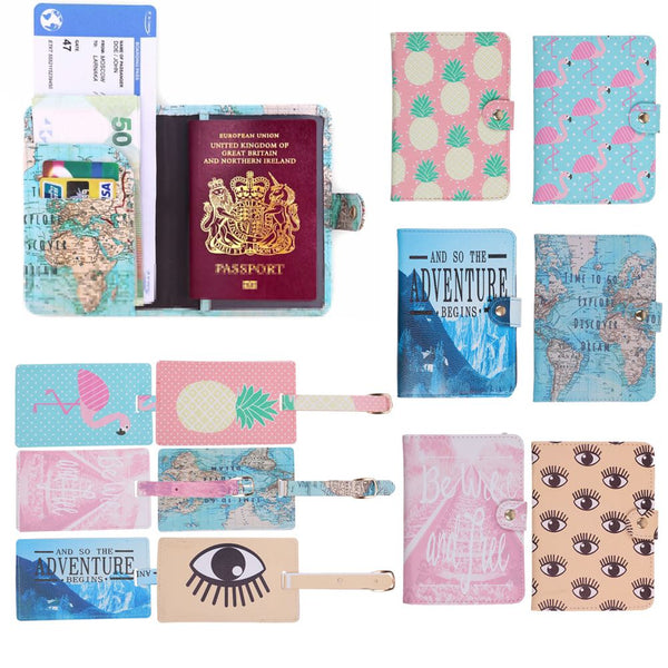 Vintage World Map Passport Cover Holder Wallet Case Luggage Travel Holiday Gift