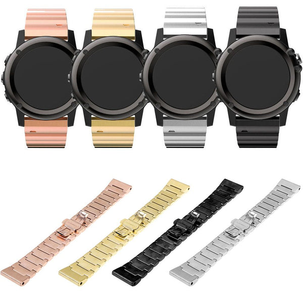 Butterfly Stainless Steel Link Bracelet Watch Strap Band For Garmin Fenix 3