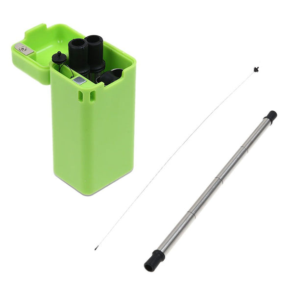 Portable Outdoor Household Stainless Steel Travel Collapsible Reusable Straw