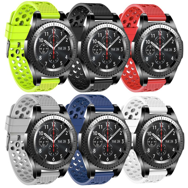 Silicone Sport Band Wrist Watch Strap For Samsung Gear S3 Classic /Frontier 22mm