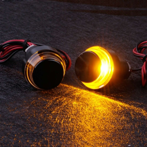 2 X Motorcycle Turn Signal LED Light Indicator Blinker Handle Bar End Handlebar
