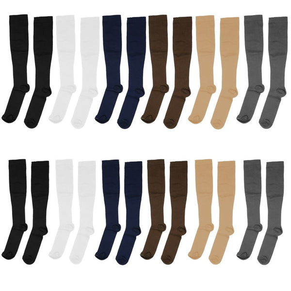 1 Pair Unisex Travelling Flight Travel Compression Support Miracle Socks 2 Size