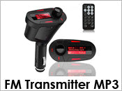 Remote Car Kit MP3 Audio Player Wireless FM Transmitter Modulator USB SD MMC Red