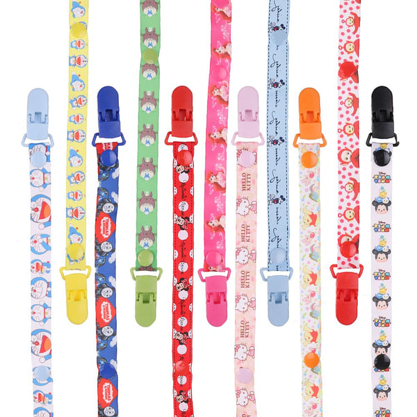 Beautiful Dummy Clip Baby Soother Clips Chain Holder Pacifier Strap Many Designs