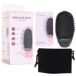 New Portable Electric Ionic Hairbrush Takeout Mini Hair Brush Comb Massage