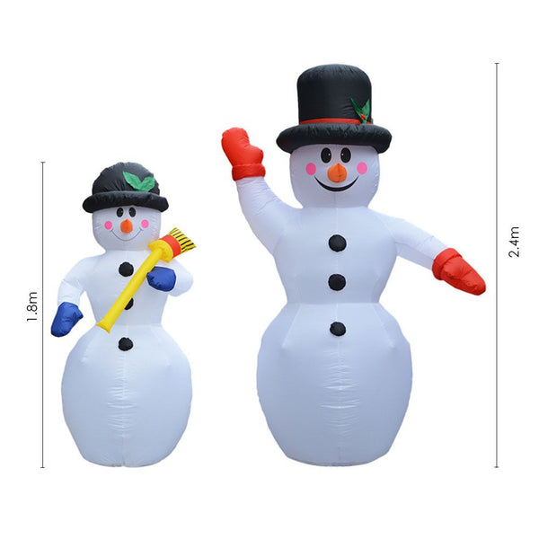 Christmas Inflatable Snowman Outdoor Holiday Christmas Decoration Garden