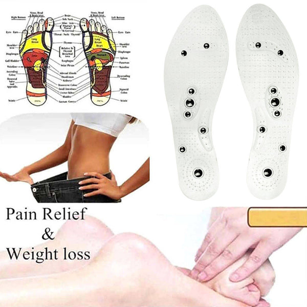 Therapy Acupressure Magnetic Massage Shoe Insole Gel Pad Foot Relax Cushion
