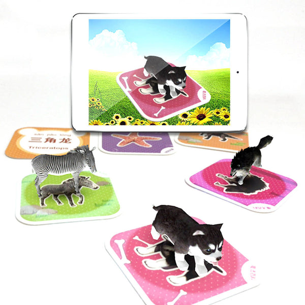 68 / 80 PCS 3D Speelgoed AR Animal Learning Card Magical AR Indoors Novelty Early Learning Card