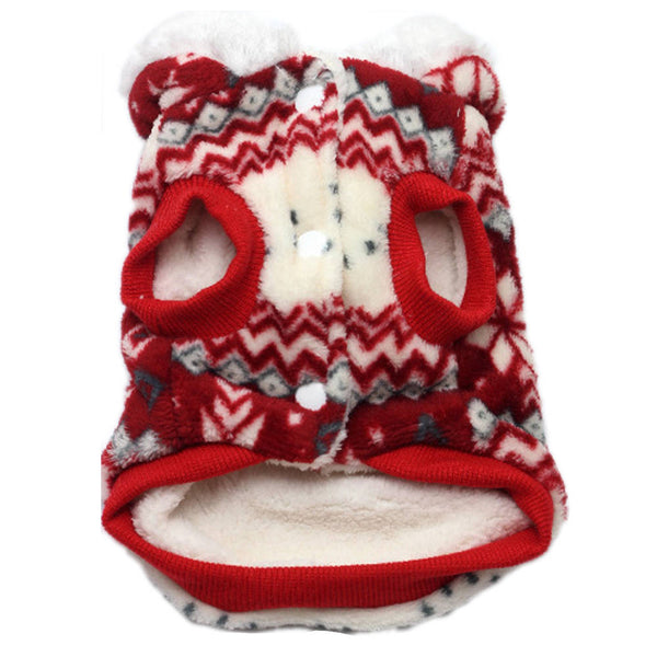 Pet Clothes Dog Pajama Jumpsuit Cute Soft Cotton Puppy Teddy Cat Sleepwear Coat